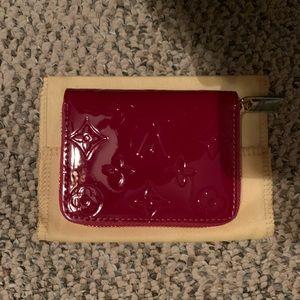 Red Louis Vuitton wallet